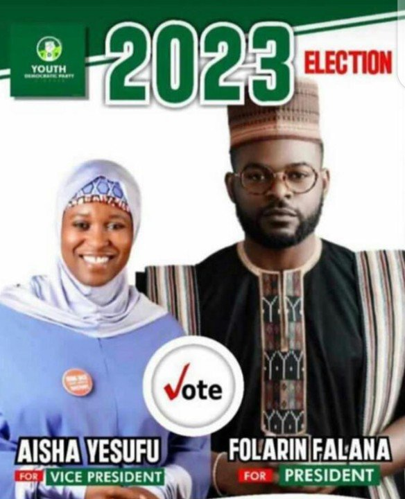 Falz And Aisha Photoshopped For 2023 Presidential Campaign