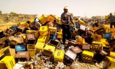Kano Hisbah Destroyed Alcohol Bottles Worth 200million