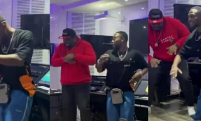 Don jazzy receive L.A.X in his studio to listen to his new album and also did the new dance
