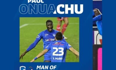 Paul Onuachu Named Of The Man For Genk's Victory