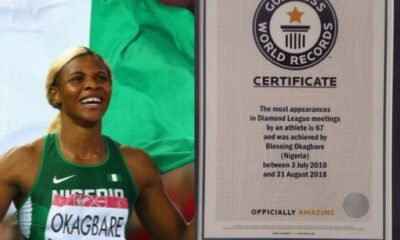 Nigerian Athlete Blessing Okagbare Broke Guiness Book Of World Record