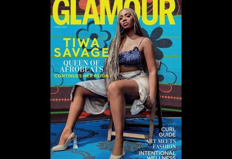 Tiwa Savage Queen Of Afrobeats Is The Cover Girl For Glamour's March Issue