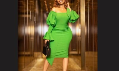 Nengi Hampson displays Her Famous Physique in a classic green dress