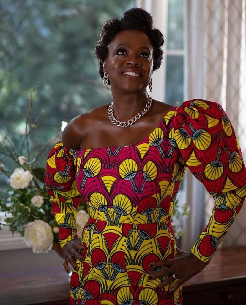 Viola Davis Makes a Statement in an African Attire For The 2021 Golden Globes