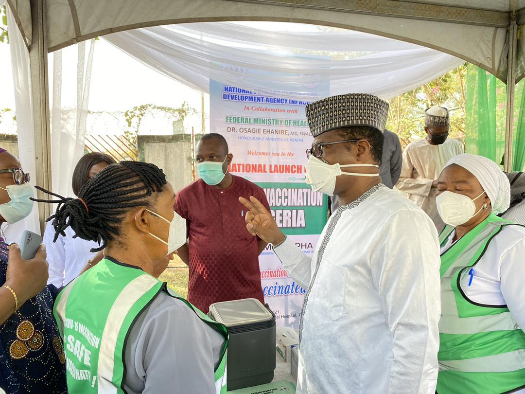 Nigeria Starts COVID-19 Vaccination With Health Workers In Abuja As First Recipients