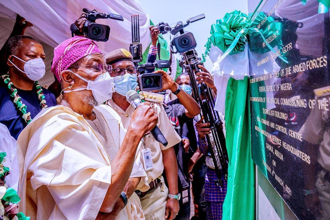 President Buhari Presides Over Virtual Commissioning of the Newly completed Nigeria Immigration Service (NIS) Technology Building