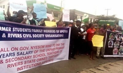 Rivers State Teachers Protest Over Non-payment of Salary