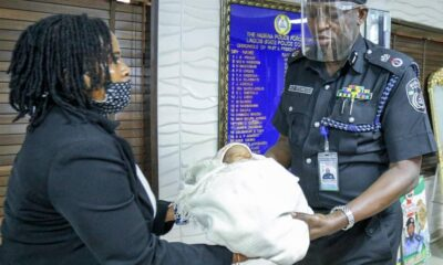 The Lagos State Police Command has rescued a day-old baby on Monday, March 15, 2021