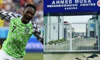 Check Out The State Of The Art Sport Facility Ahmed Musa Built In His Community