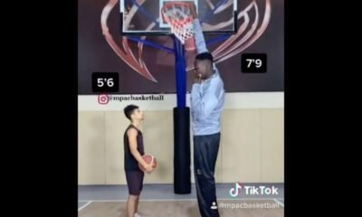 """Nigerian basketball player who is 7' 9"""" Goes viral Becoming The tallest Player In NBA History"""