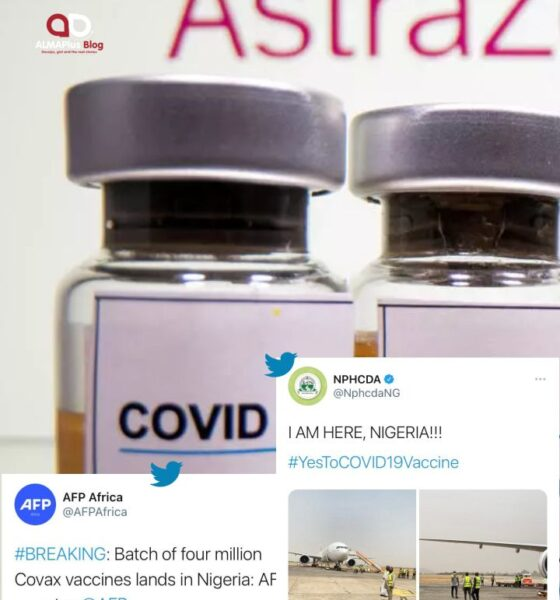 Nigeria's first batch of COVID-19 vaccines have finally arrived