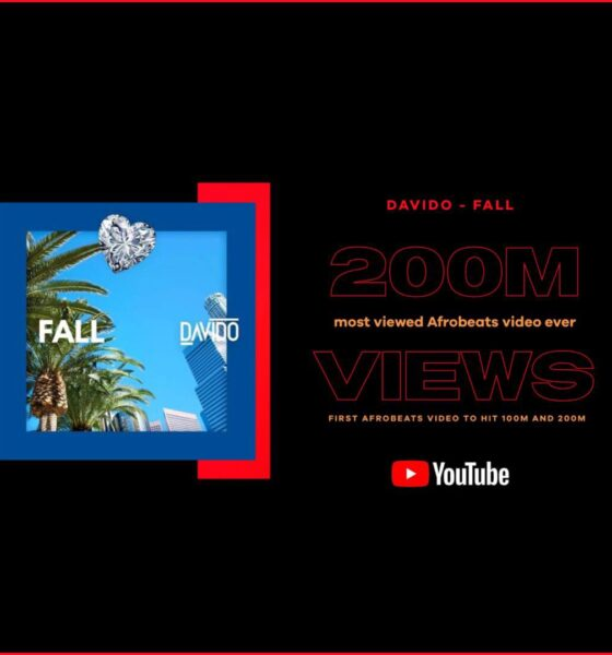 Davido's Fall Hit 200 Million View On YouTube